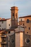 En Campanile av Florence arkivfoton