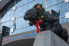 En Carolina Panthers Christmas Arkivbilder