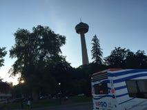 EN casacada Niagara πύργων Στοκ εικόνες με δικαίωμα ελεύθερης χρήσης