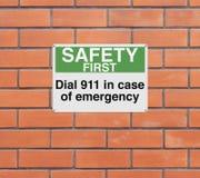 En caso de urgencia Foto de archivo libre de regalías