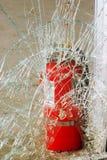 En caso del vidrio de la rotura del fuego fotografía de archivo libre de regalías