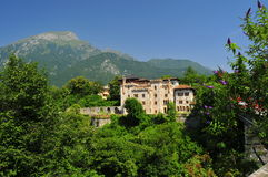En castel i Belluno Arkivbilder