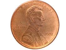 en cent från USA Fotografering för Bildbyråer