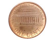 en cent från USA Arkivbild