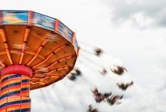 En Chairoplane snurr Fotografering för Bildbyråer