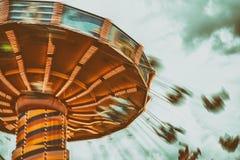 En Chairoplane snurr Royaltyfri Fotografi