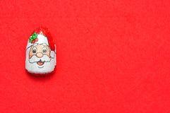 En choklad som täckas med omslaget för framsida för Santa Claus ` s Arkivfoto