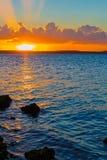 En Cienfuegos, Cuba di tramonto Fotografia Stock