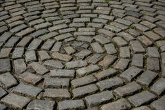 En cirkel av stentegelstenar royaltyfri bild