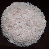 En cirkel av vita ris royaltyfria foton