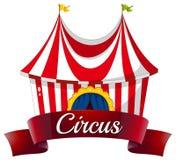 En cirkusetikett Royaltyfri Fotografi
