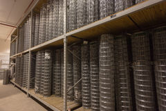 Clôture du matériel de fil d'acier Image libre de droits