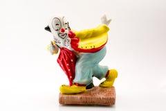 En clown som bowlar Arkivfoto