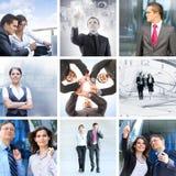 En collage av affärsfolk i formell kläder arkivfoto