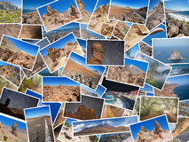 En collage av mina bästa loppfoto av Tenerife, kanariefågelö, Spanien version för 2 nummer Royaltyfria Foton