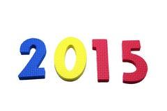 2015 en colorido en un blanco aislado Imagen de archivo libre de regalías