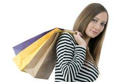 En compras Foto de archivo libre de regalías