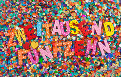 2015 en confeti Imágenes de archivo libres de regalías