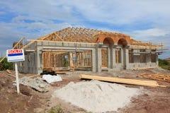 En construction à la maison neuf Photographie stock
