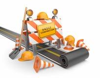 En construction de la route 3D.   Photographie stock libre de droits