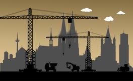 En construction, ville de Cologne, Allemagne illustration libre de droits