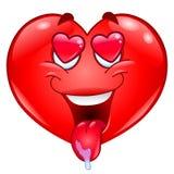 En corazón del amor Imágenes de archivo libres de regalías