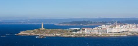En Coruna - torn av Hercules Royaltyfria Bilder