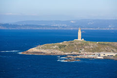 En Coruna - torn av Hercules Arkivfoto