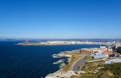 En Coruna - torn av Hercules Royaltyfri Fotografi