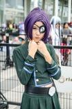 En cosplay oidentifierad japansk anime poserar i Japan Festa i Bangkok 2013 Arkivfoton