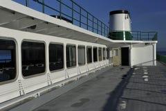 En cubierta de un transbordador Imagenes de archivo