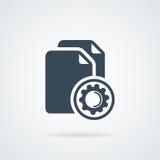En curso de proceso de los datos Concepto de datos grandes Imagen de archivo libre de regalías