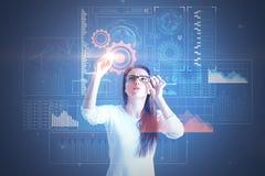 En cyber interface Stock Foto