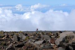 Cykla i molnen Royaltyfri Fotografi