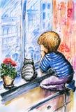 En día lluvioso libre illustration