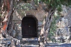 En dörr i väggen Arkivbilder