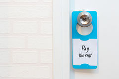 En dörrhängare Royaltyfri Foto
