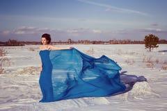 En dag en flicka i ryss Sibirien Arkivbilder