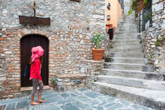 En dag i Castelmola Royaltyfri Bild