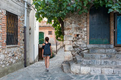 En dag i Castelmola Arkivfoto