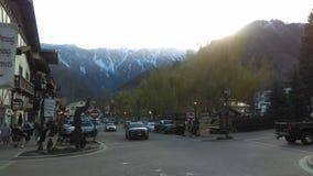 En dag i Leavenworth Arkivbilder