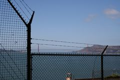 En dag p? det Alcatraz f?ngelset royaltyfria foton