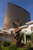 En dagsikt av extranummerhotellet i Las Vegas Arkivfoto