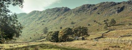 En dal i sjöområdet Fotografering för Bildbyråer