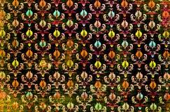 En damast tapet för färgglad repetitionmodell Royaltyfri Bild