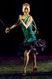 En dansare på partiet Arkivbilder