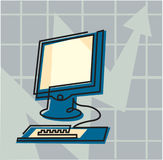 En dator Fotografering för Bildbyråer