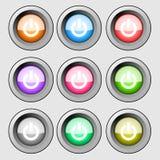 En de los botones Fotografía de archivo