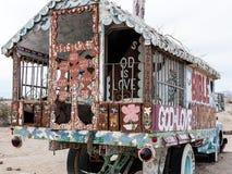 En dehors de du camion peint Photos stock