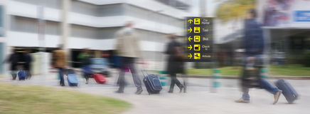 En dehors de l'aéroport Image stock